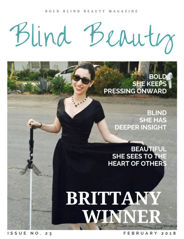 Brittany Winner on Blind Beauty Issue 23 faux fashion magazine cover description is in the body of the post.