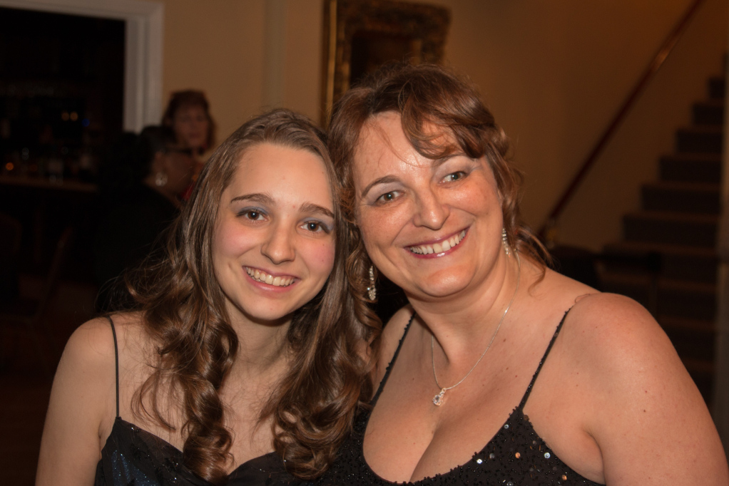 Resized Sylvia and her daughter Olivia at Dining in the Dark event 1
