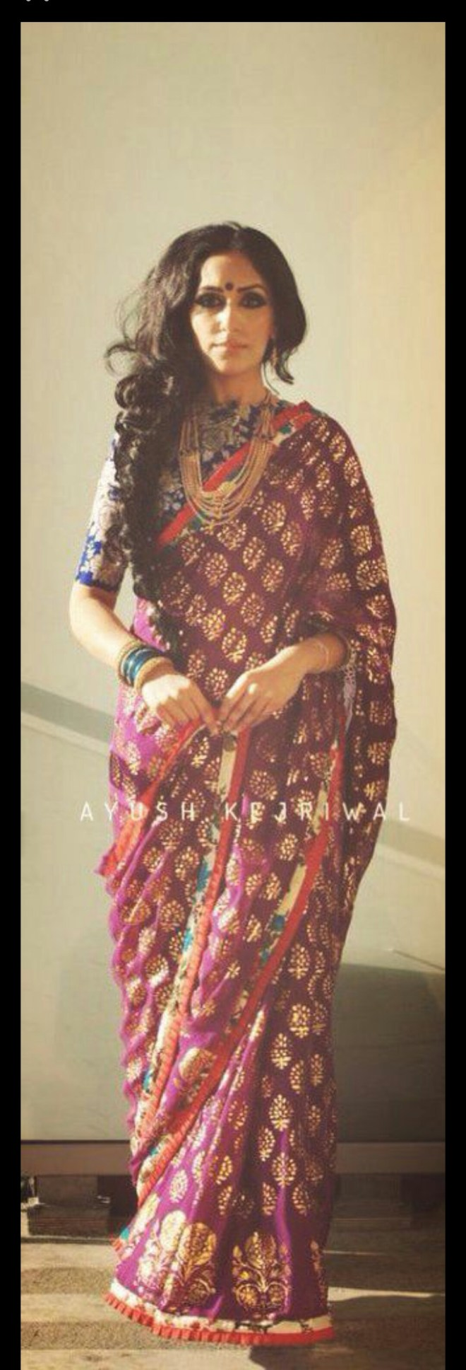 Purple saree