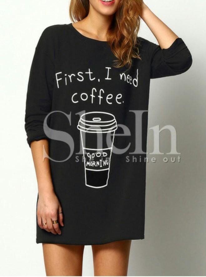 Shein coffee T-Shirt