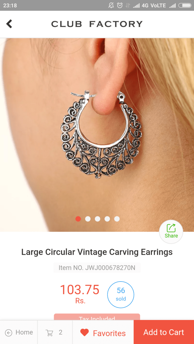 Carving earring