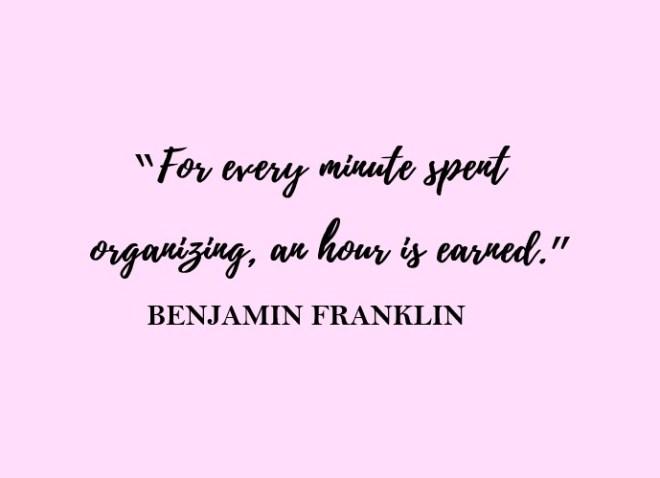 organising quote