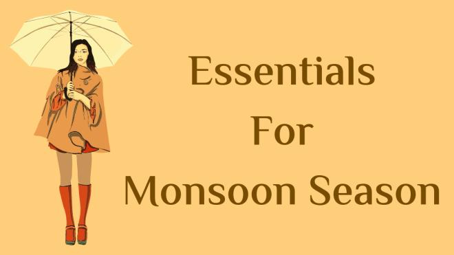 Essentials for monsoon season