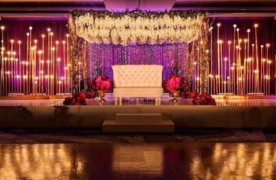 Exquisite Ideas For Wedding Decoration For Stage by BloomsOnly Pune