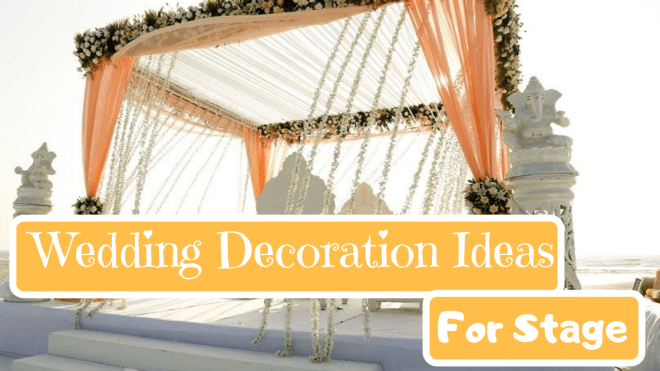 wedding decoration for stage