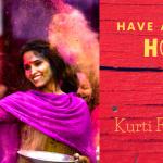 Kurti for Holi