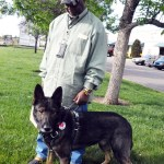 Service Dog CAPTAIN in BLD harness 2753 - Service Dogs in Action
