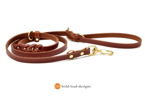 Working Dog Lead tan large 2860 - The Working Dog Lead™ - 5 ft. leather Euro leash