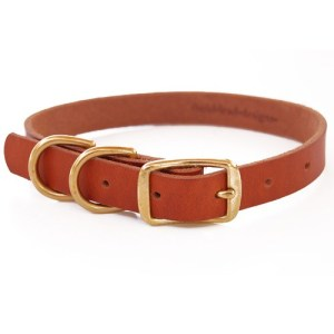 collar double d - BLD's Double D-ring Leather Dog Collar