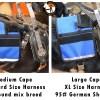 Med vs Large cape on harness a - Service Dog Cape/Vest