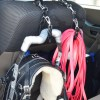 leash caddy with harness and long line 2984 - Custom Brahma Lead - dog training leash / tracking long line
