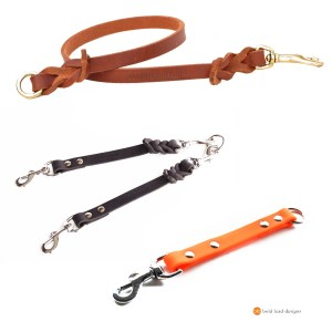 extender multiplier 1 - Leash Extender/Multiplier--add more length, more dogs, or safety! Leather or Brahma