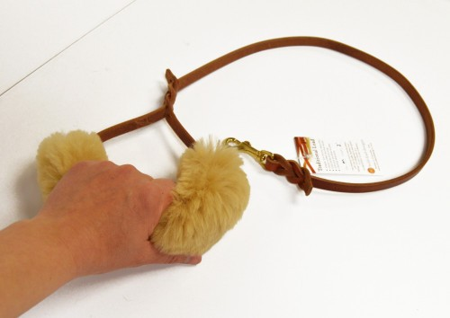leash handle 0474 e1432397233626 - Sheepskin Wrap - leash or harness handle padded wrap