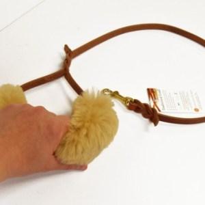 leash handle 0474 e1432397233626 - Sheepskin Wrap - leash or harness handle padded wrap