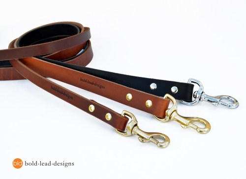 The HD Lead™ - custom made HEAVY-DUTY premium leather dog leash