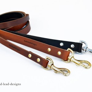 The HD Lead™ - custom made HEAVY-DUTY premium leather dog leash
