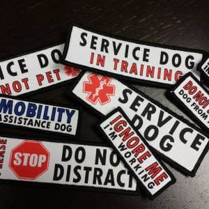 20180105 121509 - Service Dog Velcro Patch