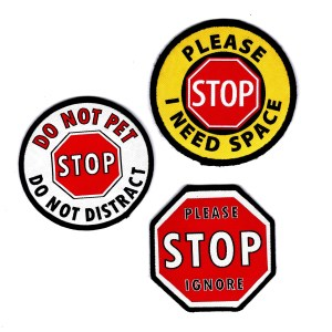 STOP Sign Leash Wraps