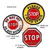 STOP Sign Leash Wraps