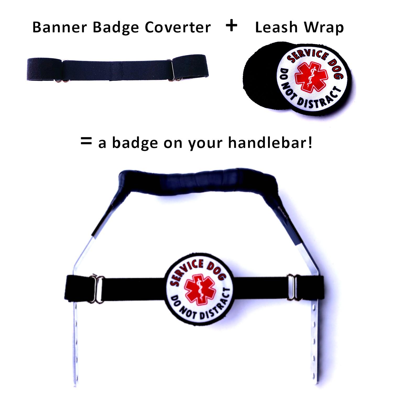 Custom Phrase 9 Leash Wrap Your Phrase Here Custom Leash Sleeve Service Dog Gear Long Leash Wrap