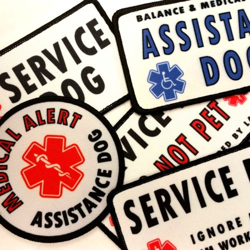 Sew On Patches for Service Dogs