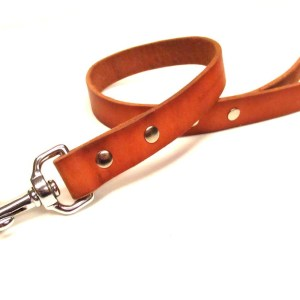 LAST CHANCE: Heavy Duty Bridle Leather Dog Leash