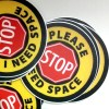 "Need Space stickers 6 pk - STOP ""I Need Space"" button or sticker"
