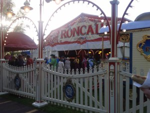 The entrance to the circus