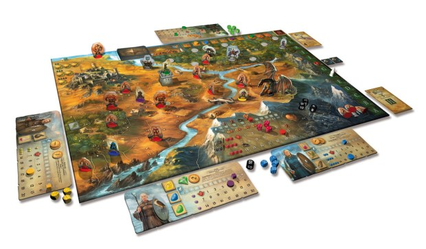 Legends of Andor is a very pretty game, with many tokens.
