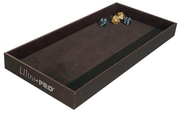 This is the dice tray that I use, velvet-lined.