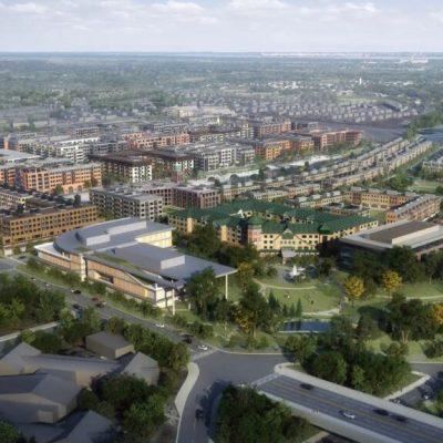 aerial rendering facing southeast