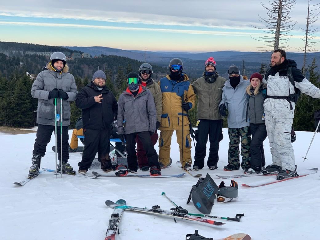 snowshoe ski trip