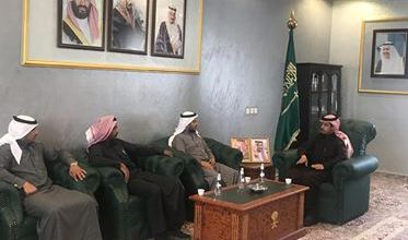 Photo of السعودية :محافظ بني حسن يستقبل رئيس بلدية المحافظة