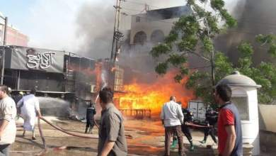 Photo of ماس كهربائي يتسبب في حريق هائل بأحد المطاعم الشهيرة،.بكفر الزيات بالغربية