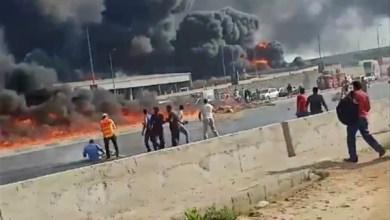 Photo of حريق هائل بخط مازوت بالهايكستب . صور ..