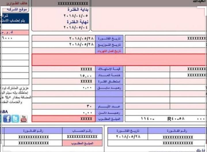 كيفية حساب فاتورة الكهرباء 2020