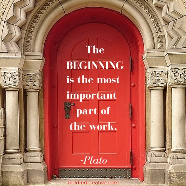 The Beginning Plato Quote