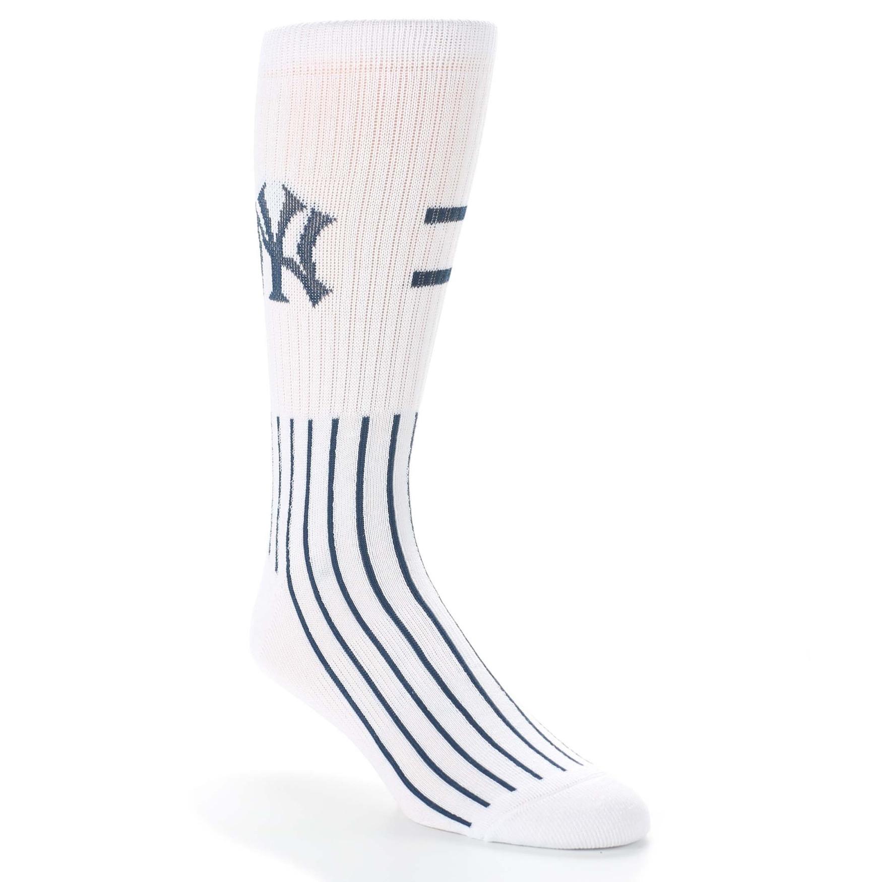 New York Yankees Pinstripes Men S Athletic Crew Socks
