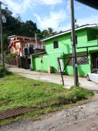Colorful houses in the Caribbean