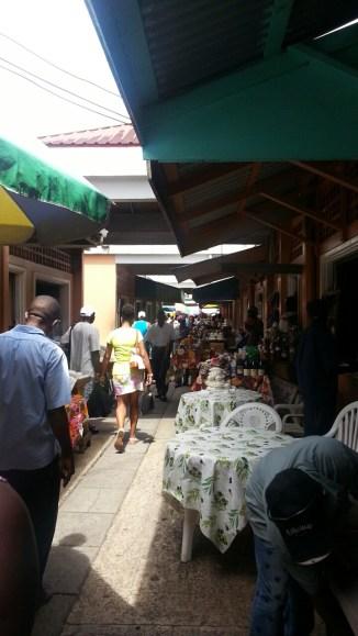 Market street full of food vendors