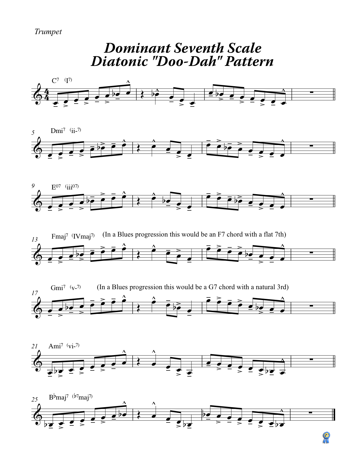 Dominant 7th Scale Diatonic Scales