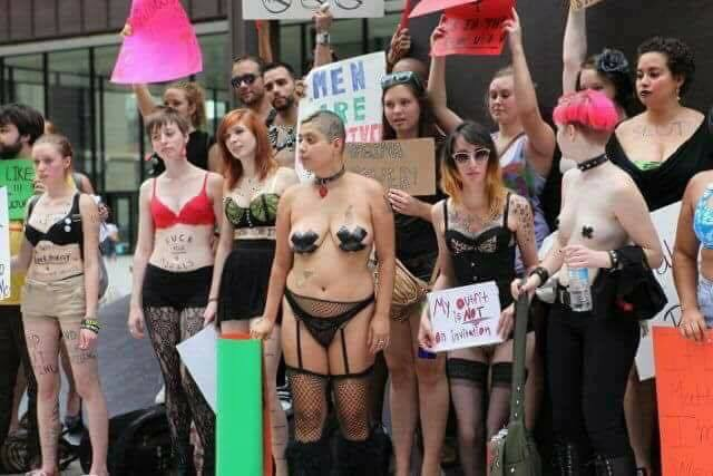 And the Liberal Democrat Women Marched…