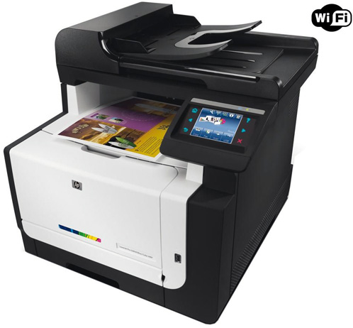 Apple AirPrint on the iPad: The HP LaserJet CM1415fnw Review