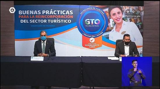 """Presenta SECTUR Guanajuato el """"Distintivo Guanajuato Sano"""" para el Sector Turístico."""