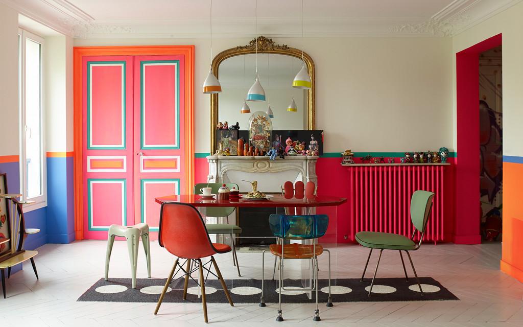 Farverig Color Colorful Living Indretning Spisestue Boligcious