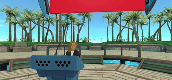 Virtual Meeting Space at the Beach