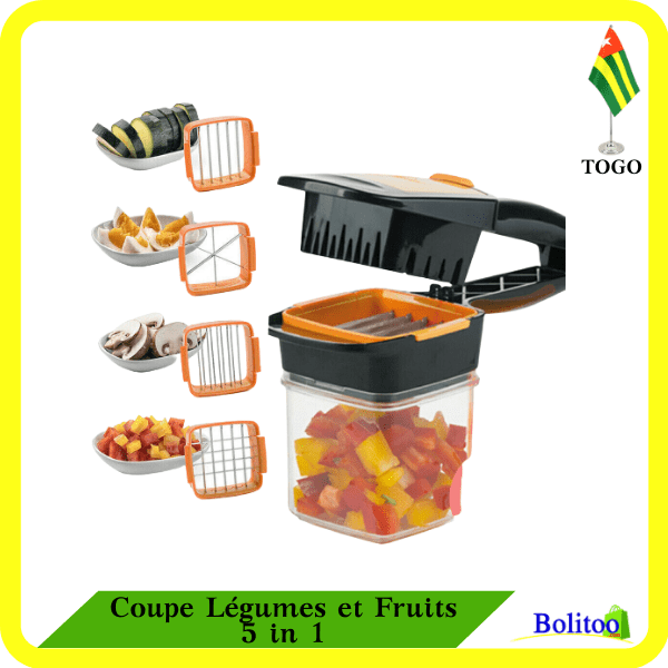 Coupe Légumes et Fruits 5 in 1