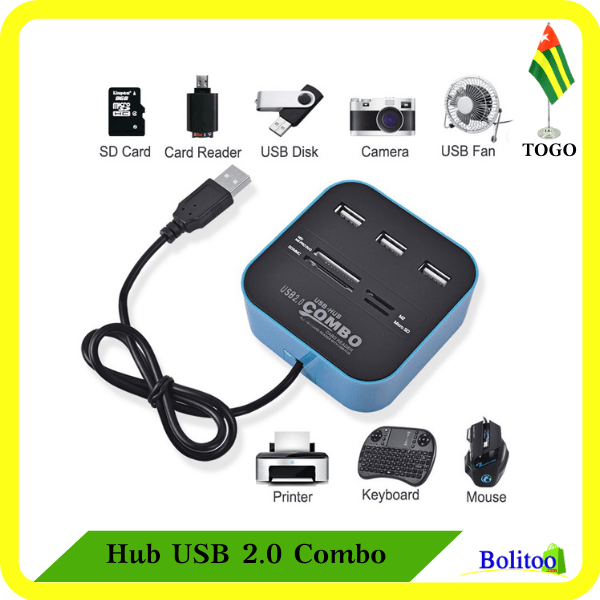 Hub USB 2.0 Combo