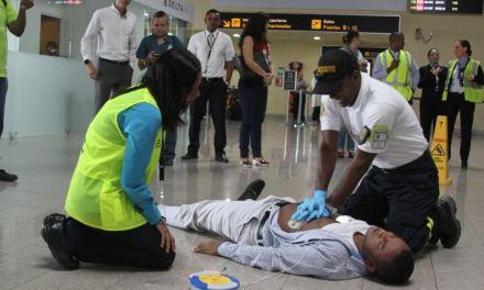 Simulacro de aeronave en Aeropuerto de Cartagena