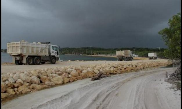 Daño ambiental por pedraplen en Barú